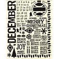 Rusty Pickle - Rub Ons - December - Santa - Christmas - Birthday, CLEARANCE