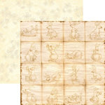 Rusty Pickle - Chocolate Bunnies Collection - 12x12 Double Sided Paper - Peter Cottontail, CLEARANCE