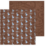 Rusty Pickle - Chocolate Bunnies Collection - 12x12 Double Sided Paper - Chocolate Bunnies - Easter