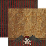 Rusty Pickle - 12x12 Double-Sided Paper - Cap'n Jack Collection - Cap'n Jack, CLEARANCE
