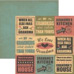 Rusty Pickle - Pickelicious Collection - 12x12 Paper - We Love Grandma, CLEARANCE