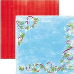 Rusty Pickle - Snowflakes and Mittens Collection - Christmas - 12x12 Double Sided Paper - Mistletoe