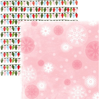 Rusty Pickle - Snowflakes and Mittens Collection - Christmas - 12x12 Double Sided Paper - Snowflakes