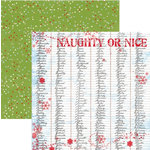 Rusty Pickle - Snowflakes and Mittens Collection - Christmas - 12x12 Double Sided Paper - Naughty and Nice