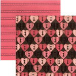 Rusty Pickle - Chocolate Kisses Collection - Valentine's Day - 12x12 Double Sided Paper - Truffle, CLEARANCE
