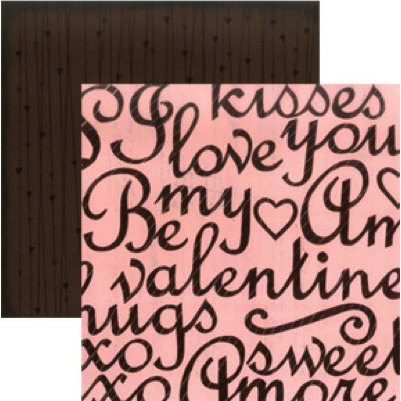 Rusty Pickle - Chocolate Kisses Collection - Valentine's Day - 12x12 Double Sided Paper - Special Dark, CLEARANCE