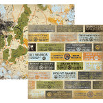Rusty Pickle - Under the Stars Collection - 12x12 Double Sided Paper - Are We There Yet? - Camping - Vacation, CLEARANCE