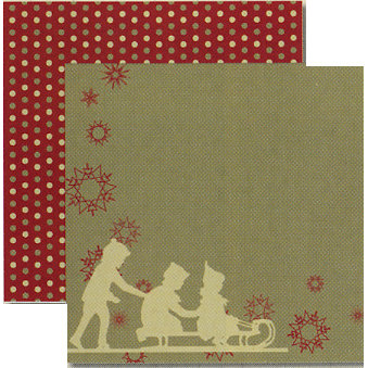 Rusty Pickle - White Christmas Collection - 12 x 12 Double Sided Paper - Jingle Bells, BRAND NEW