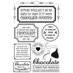 Rusty Pickle - Chocolate Kisses Collection - Clear Stamps - Chocolate Kisses - Valentine