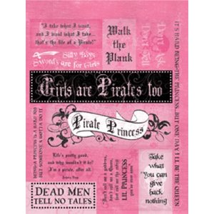 Rusty Pickle - Pirate Princess Collection - Cardstock Stickers, CLEARANCE