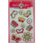 Ruby Rock It Designs - Kindred Spirit Collection - 3 Dimensional Stickers - Butterflies, CLEARANCE