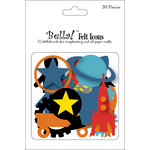 Ruby Rock It Designs - Bella - Paper Boy Collection - Die Cut Felt Pieces - Icons