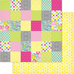 Ruby Rock It Designs - Bella - Paper Doll Collection - 12 x 12 Double Sided Paper - Patchwork