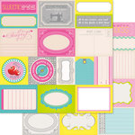 Ruby Rock It Designs - Bella - Paper Doll Collection - 12 x 12 Double Sided Paper - Tokens