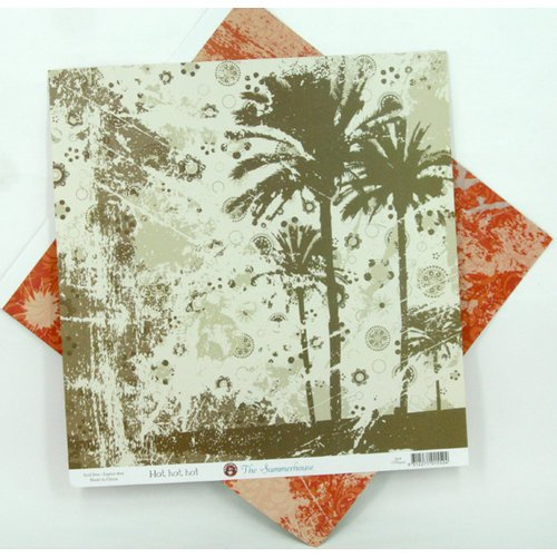 Ruby Rock It Designs - The Summerhouse Collection - 12 x 12 Double Sided Paper - Hot, Hot, Hot, CLEARANCE