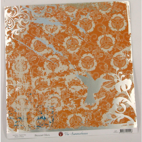 Ruby Rock It Designs - The Summerhouse Collection - 12 x 12 Paper with Foil Accents - Summer Hum