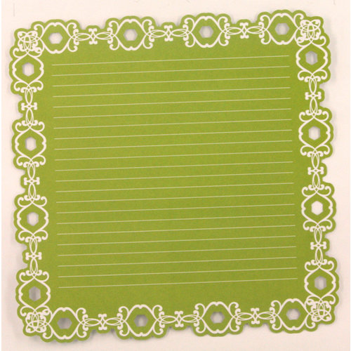 Ruby Rock It Designs - The Summerhouse Collection - 12 x 12 Die Cut Paper - Green, CLEARANCE
