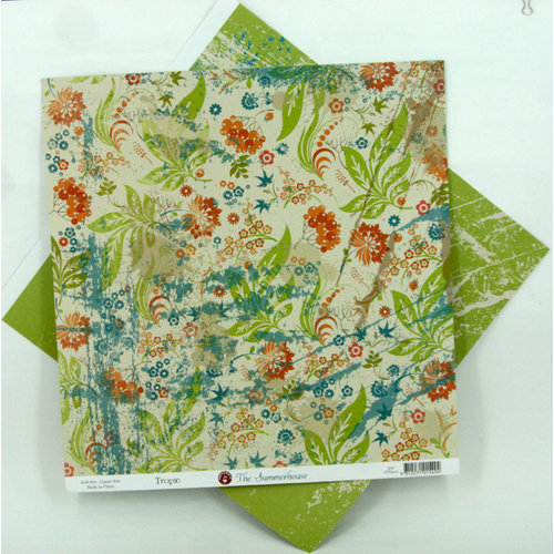 Ruby Rock It Designs - The Summerhouse Collection - 12 x 12 Double Sided Paper - Tropic, CLEARANCE