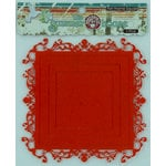 Ruby Rock It Designs - The Summerhouse Collection - Felt Frames - Square - Orange, CLEARANCE