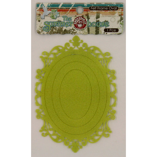 Ruby Rock It Designs - The Summerhouse Collection - Felt Frames - Oval - Lime, CLEARANCE