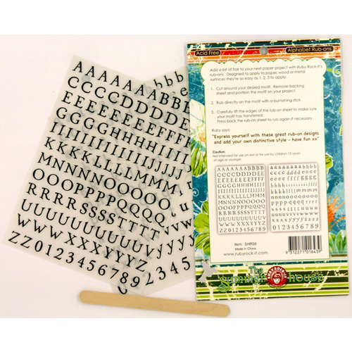 Ruby Rock It Designs - The Summerhouse Collection - Rub Ons - Alphabet