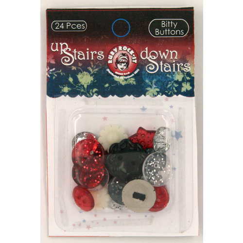 Ruby Rock It Designs - Upstairs Downstairs Collection - Bitty Buttons