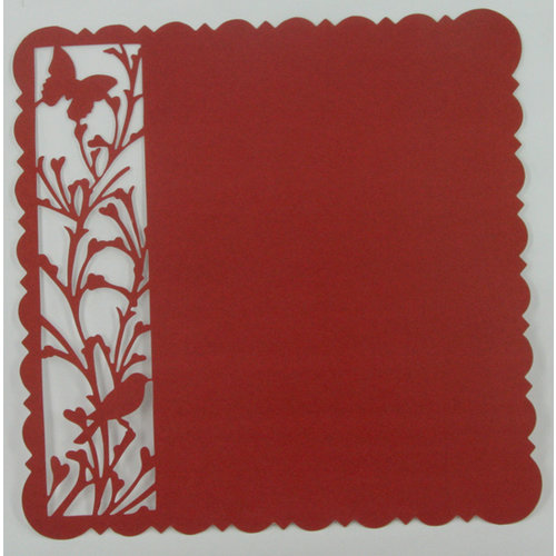 Ruby Rock It Designs - Upstairs Downstairs Collection - 12 x 12 Die Cut Paper - Red, CLEARANCE