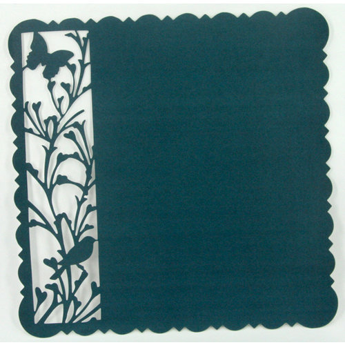 Ruby Rock It Designs - Upstairs Downstairs Collection - 12 x 12 Die Cut Paper - Blue, CLEARANCE