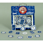 Ruby Rock It Designs - Vintage Beauty Collection - Chipboard Alphabet Pieces, CLEARANCE