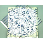 Ruby Rock It Designs - Vintage Beauty Collection - 12 x 12 Double Sided Paper - Nouveau, CLEARANCE