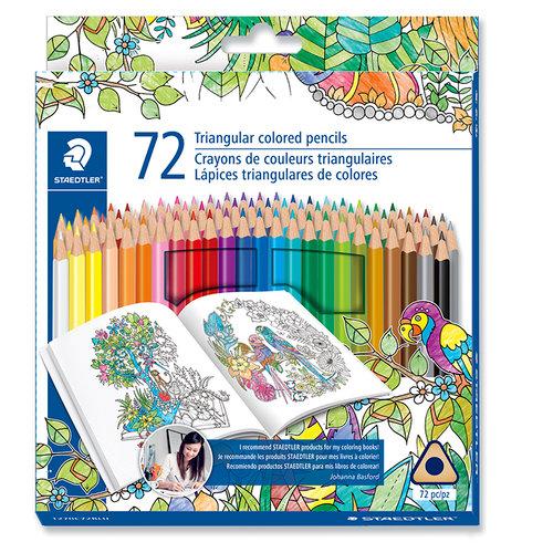 Staedtler - Colored Pencils - Triangular Barrel - 72 Pieces