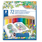 Staedtler - Colored Pencils - Triangular Barrel - 72 Pieces