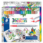 Staedtler - Fibre Tip Duo-Colour Markers - 36 Pieces