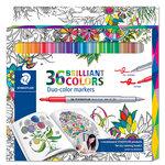 Staedtler - Fibre Tip Duo-Colour Markers - 36 Pieces