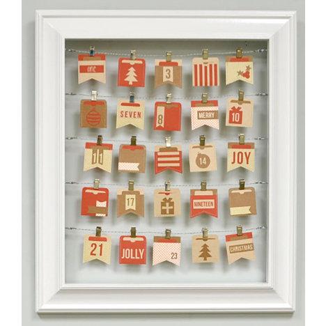 Silhouette America - Wood Frame - Advent Calendar Kit - White