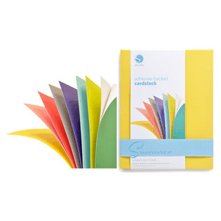 Silhouette America - 8.5 x 11 Self Adhesive Cardstock Pack - Summer