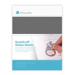 Silhouette America - Cameo - Electronic Cutting System - Scratch-off Sticker Sheets - Silver