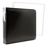 12 x 12 Three Ring Album - Black with 10 Page Protectors