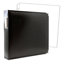 Scrapbook.com - 12 x 12 Three Ring Album - Black with 10 Page Protectors