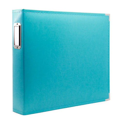 12 x 12 Three Ring Album - Aqua