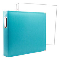 12x12 Three Ring Album - Aqua with 10 Page Protectors