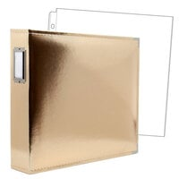12x12 Three Ring Album - Gold with 10 Page Protectors