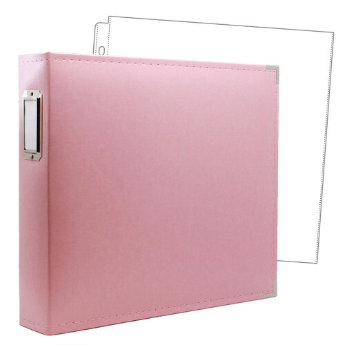 12 x 12 Three Ring Album - Pink with 10 Page Protectors