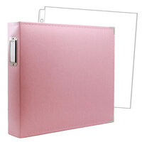 Scrapbook.com - 12 x 12 Three Ring Album - Pink with 10 Page Protectors