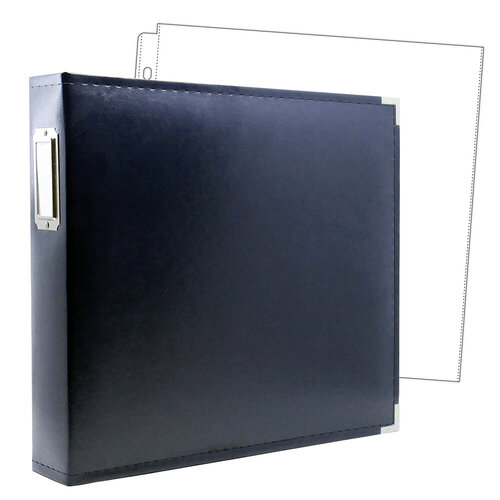12 x 12 Three Ring Album - Navy with 10 Page Protectors