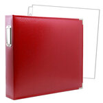 12 x 12 Three Ring Album - Red with 10 Page Protectors
