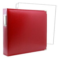 Scrapbook.com - 12 x 12 Three Ring Album - Red with 10 Page Protectors