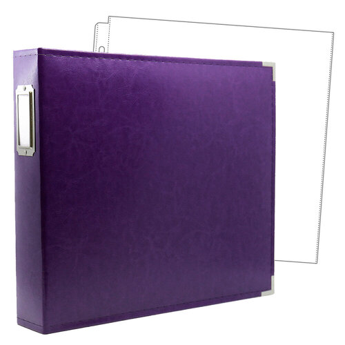 Scrapbook.com - 12 x 12 Three Ring Album - Purple with 10 Page Protectors