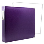 12 x 12 Three Ring Album - Purple with 10 Page Protectors