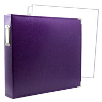 12x12 Three Ring Album - Purple with 10 Page Protectors